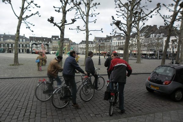 fiets achtergrond vrijthof